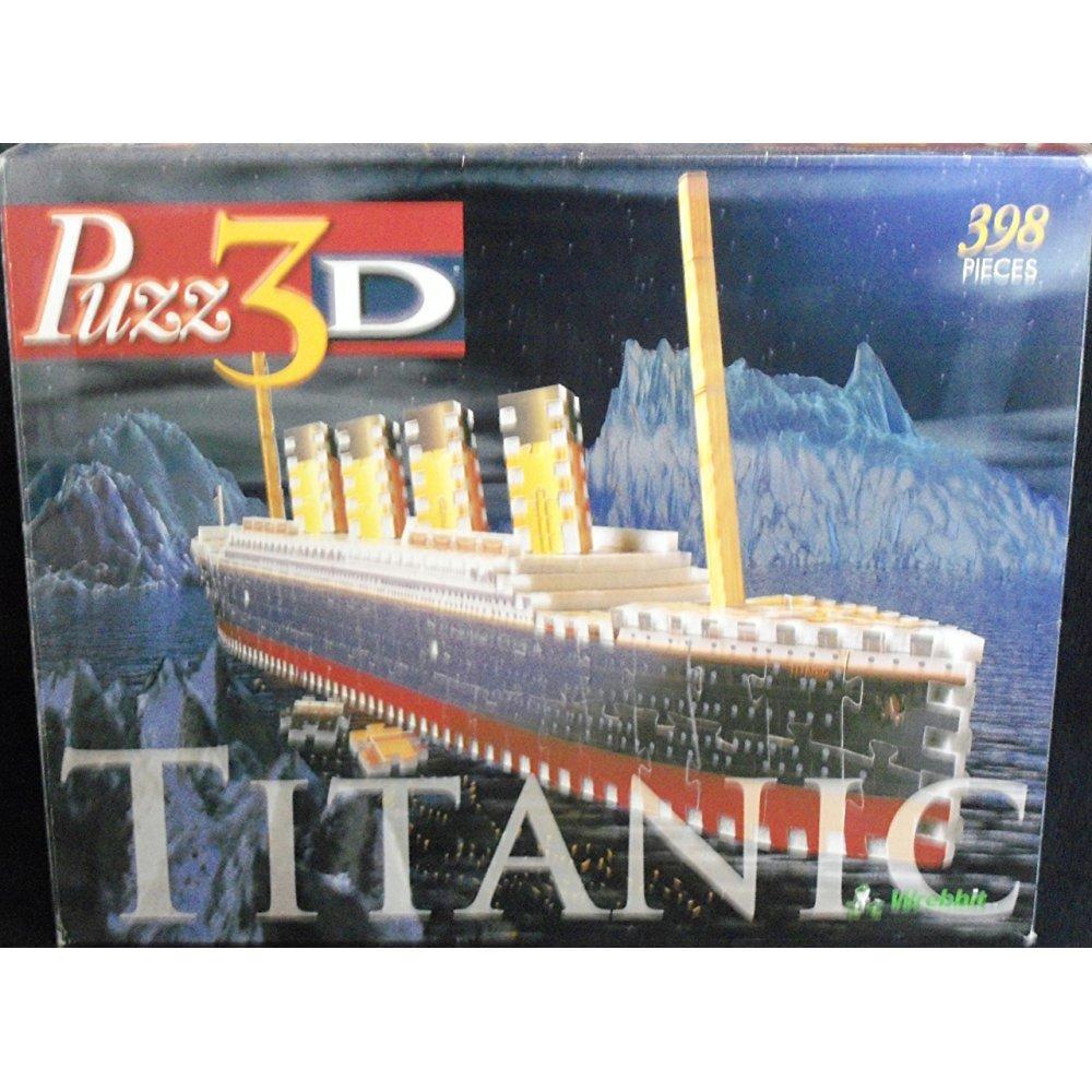 Wrebbit Puzz 3D Titanic: 398 Piece Puzzle