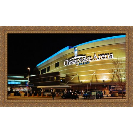 Chesapeake Energy Arena 40X24 Large Gold Ornate Wood Framed Canvas Art   Home Of The Oklahoma City Thunder