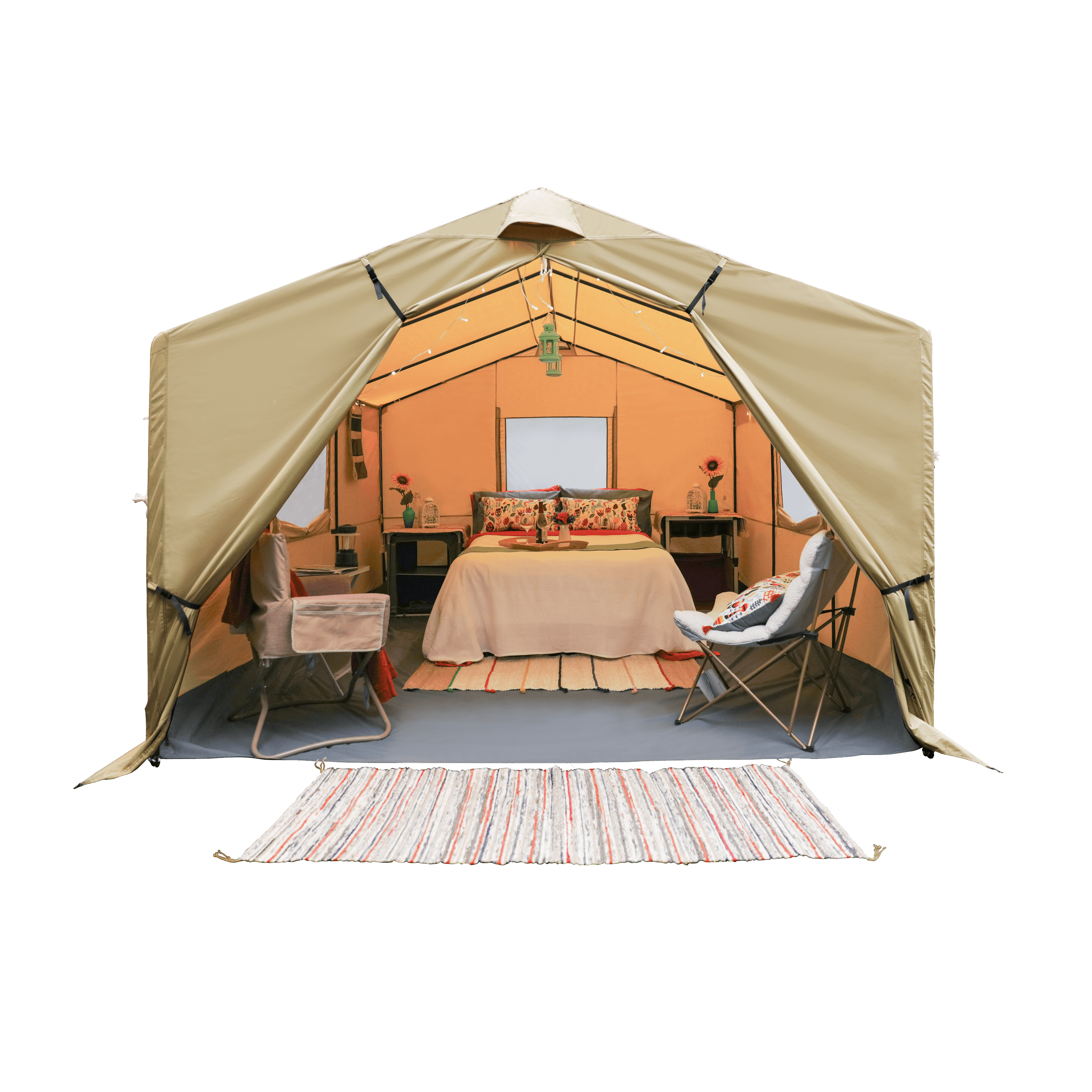 Ozark Trail 12X10 Ft All-Season Outfitter Wall Tent, Sleeps 6