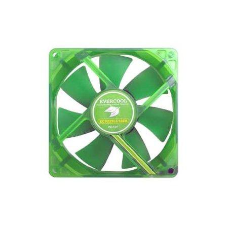 Fan Bearing Fan - Evercool 140mm Evergreen Silence Fan - 140 x 140 x 25mm (Fan Size), Ever Lubricate Bearing, 60010% RPM,38.58 CFM, 16 dB