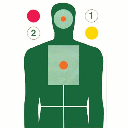 10 Pcs of MN Center for Criminal Justice Advanced Skill Builder Target Green, Yellow, Red, Orange. Size: 23 X 35 ()