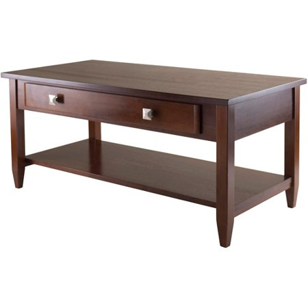 Winsome Wood Richmond Coffee Table with Drawer, Walnut Finish ()