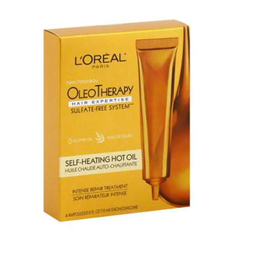 L'Oreal OleoTherapy Self-Heating Hot Oil Treatment Ampoules 1 ea (Pack of 2)