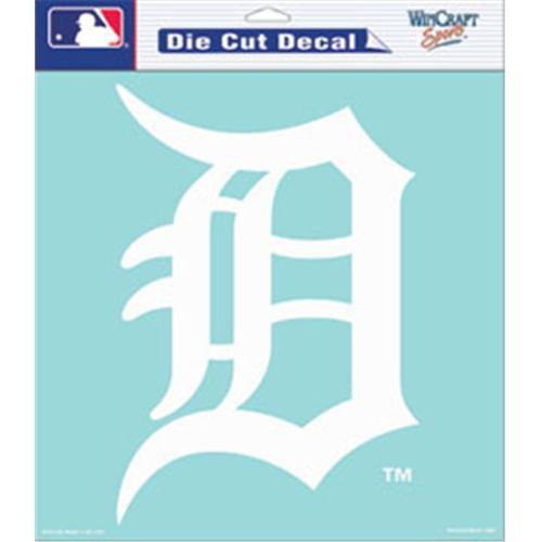 Detroit Tigers Die-Cut Decal - 8''x8'' White