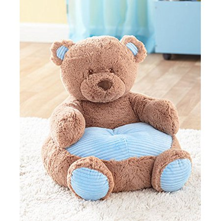 Phenomenal Kids Plush Blue Bear Chair By The Lakeside Collection Pabps2019 Chair Design Images Pabps2019Com