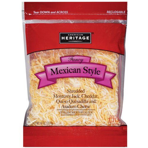 American Heritage Fancy Mexican Style Shredded Cheese, 8 oz