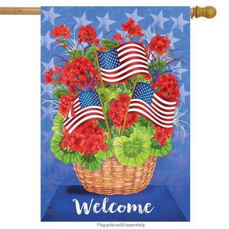 patriotic basket summer house flag welcome floral 28