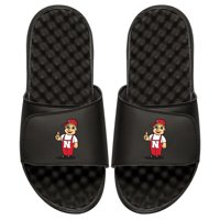 Nebraska Cornhuskers ISlide Youth Mascot Slide Sandals - Black