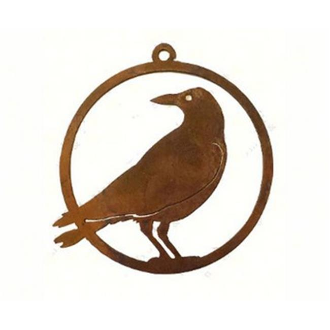 California Home and Garden CHG845 Handcrafted With Steel - Crow Ornament