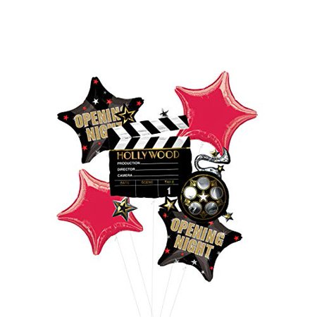 Opening Night Movie Party Supplies Balloon Bouquet Decorations Hollywood Film Clapper - Balloons Hollywood