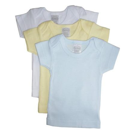 3 Pack Lap Pads - Bambini Boys Pastel Variety Short Sleeve Lap T-shirts - 3 Pack