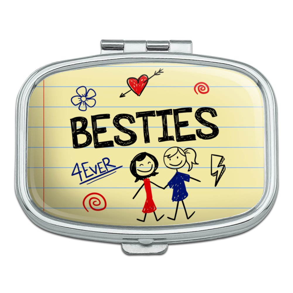 Besties Best Friends Rectangle Pill Case Trinket Gift Box