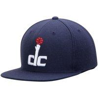 Washington Wizards Mitchell & Ness Current Logo Wool Solid Snapback Adjustable Hat - Blue - OSFA