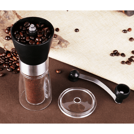 Portable Manual Coffee Bean Grinder,Heaviest Duty Portable Conical Burr Mill for French Press,Turkish,Handheld Mini, K Cup, Brushed Stainless Steel, Best Grind for French