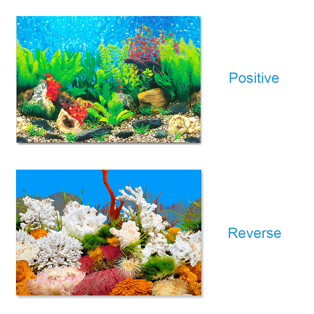 DAYOLY Aquarium Poster Background 122 * 50CM 3D Double-Sided Adhesive Wallpaper Fish Tank Applique Poster for Fish Tank Decoration Paper Picture Fish Tank Sticker