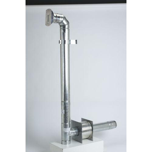 """Metalbest 3VP-KIT VP 3"""" Inner Diameter - VP Pellet Vent Pipe - Thru-the-wall Kit"""