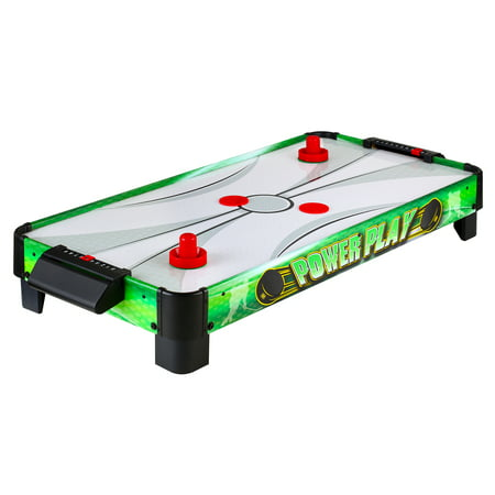 Power Play Table Top Air Hockey, 40-in, Green (Air Hockey Table Glow In The Dark)
