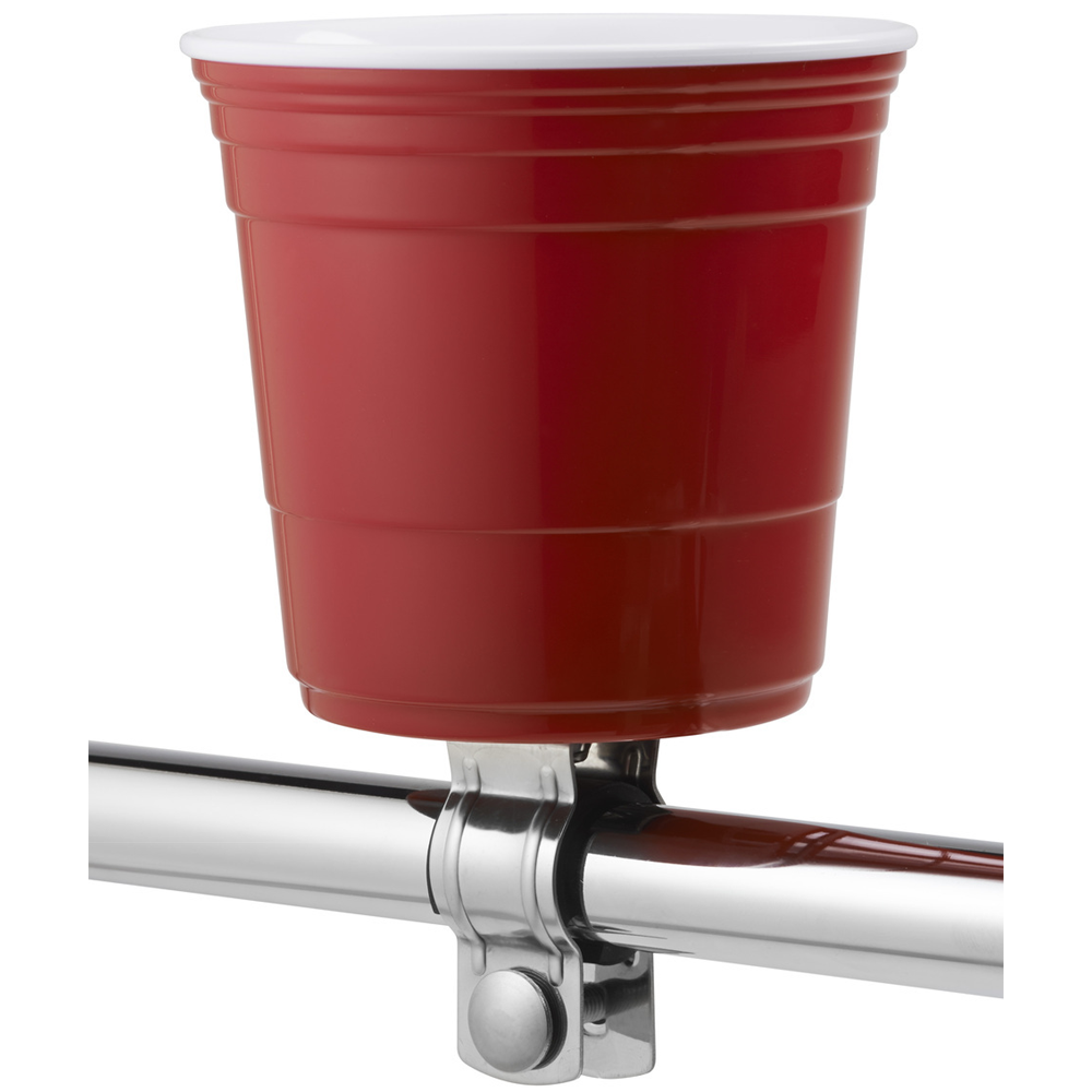 Red Cup Living Handlebar Mount 22.2mm/31.8mm Bicycle Drink Holder 18-32oz Bottle