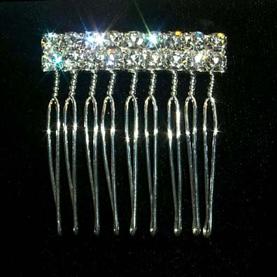#12143 2 Row Rhinestone Twisted Wire (Comb 0.25 Wire)