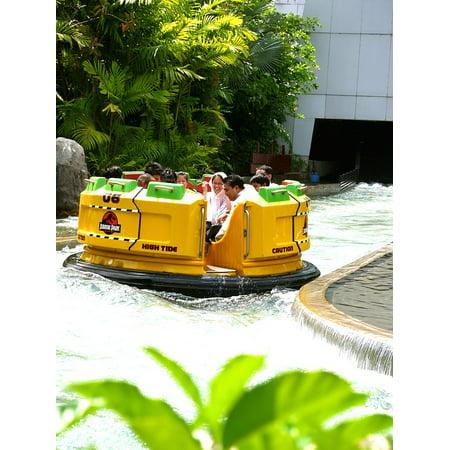 Peel-n-Stick Poster of Rafting Singapore Amusement Park Universal Studios Poster 24x16 Adhesive Sticker Poster Print
