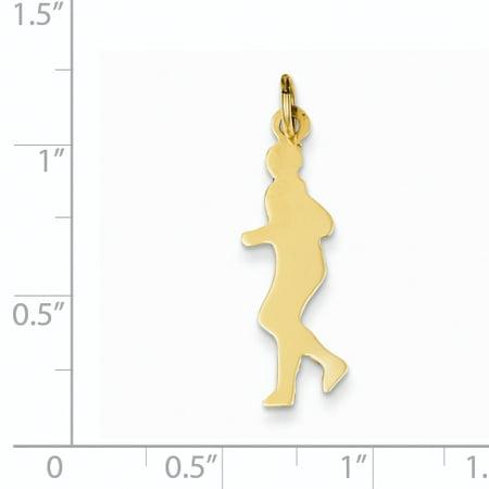 14K Yellow Gold Runner Charm - image 1 de 2