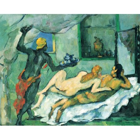 Framed Art for Your Wall Cézanne, Paul - Afternoon in Naples (The rum punch) 10 x 13 - Halloween Red Rum Punch