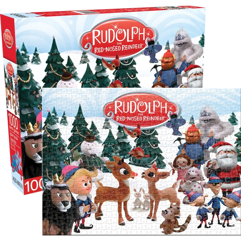 Rudolph 1000 Piece Puzzle,  Christmas Puzzles by NMR Calendars