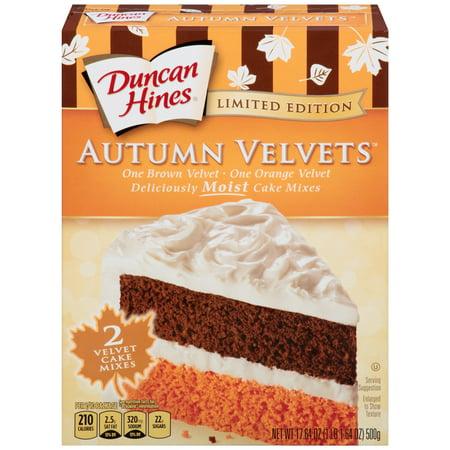 Duncan Hines Autumn Velvets Cake Mix, 17 64 Oz - Walmart com