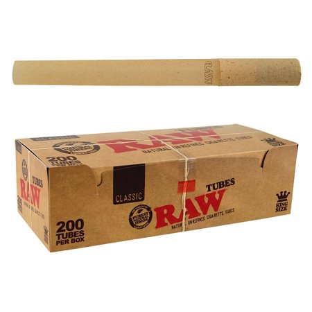 - Classic Natural Unrefined Rolling Paper - Pre Rolled Tubes (Regular) RAW - King Size
