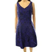Lauren Ralph Lauren NEW Blue Women's Size 12 Jacquard V-Neck Sheath Dress