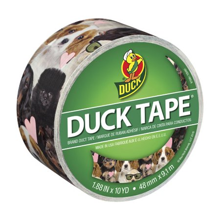 Duck Tape Puppy Potpourri Printed Duct Tape. 1.88 inches wide 10-yard roll