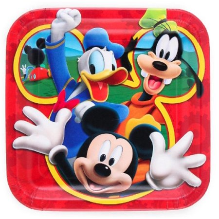 Plates - Mickey Mouse - 9 Inch Large - Party - Mickey Mouse Centerpieces Ideas
