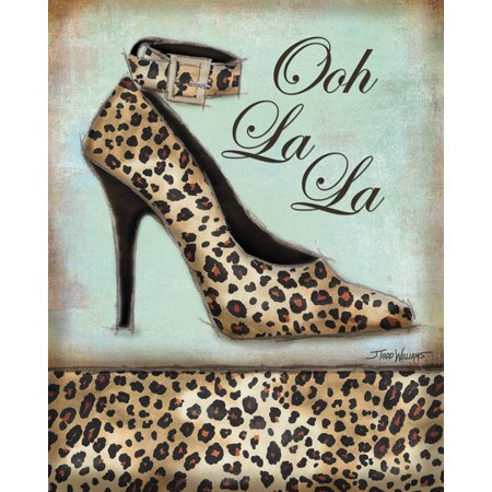 Leopard Shoe Fashion Animal Print Retro Fashion Cute Shopping Vintage Trendy Decorative Decor 11X14](Animal Print Decor)