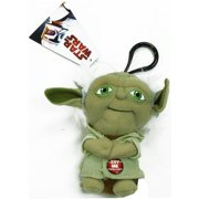"Star Wars Mini 4"" Talking Plush Toy Clip On - Yoda"