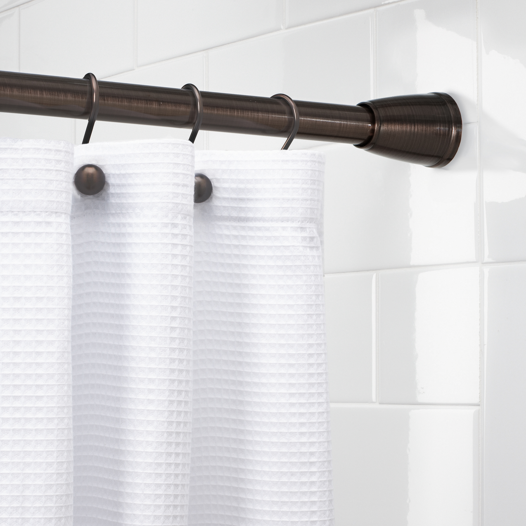 Better Homes Gardens Tapered Ez Up Shower Curtain Tension Rod 1
