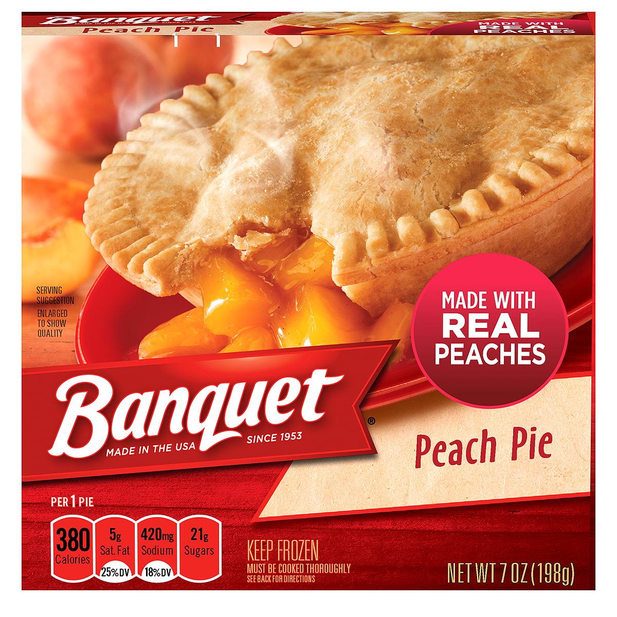 Banquet Peach Pie, 7 Oz