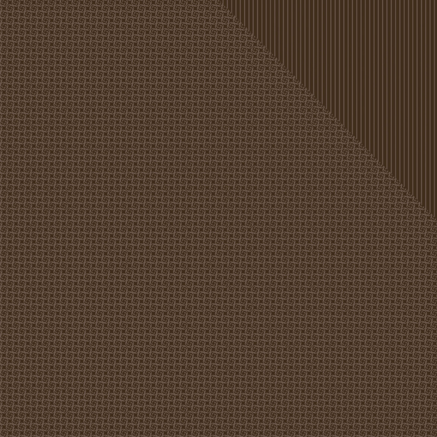 "Spectrum Series 2 Double-Sided Cardstock 12""X12""-Cocoa Bean Pinwheel/Stripe"