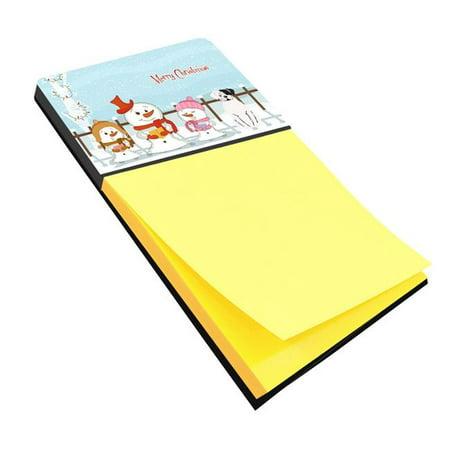 Carolines Treasures BB2445SN Merry Christmas Carolers White Boxer Cooper Sticky Note Holder ()