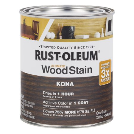 Kona Rust Oleum Ultimate Wood Stain Quart Walmart Com