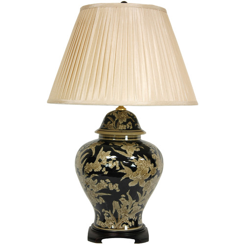 Oriental Furniture Floral Bouquet Vase 28'' Table Lamp