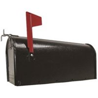 Fulton 807103 U.S. 1 Rural Mailbox, Galvanized Steel, Black