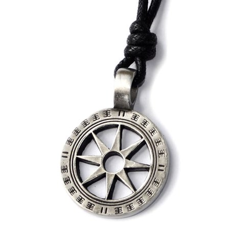 Mayan Sun Symbol Silver Pewter Charm Necklace Pendant Jewelry