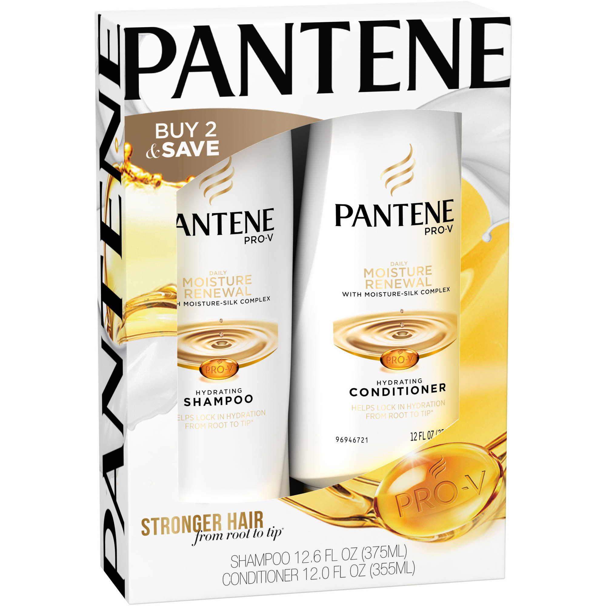 Pantene Pro-V Daily Moisture Renewal Hydrating Shampoo & Conditioner, 2 pc