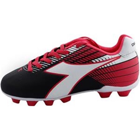 Diadora Kid's Ladro MD JR Athletic Soccer Cleats Black Polyurethane 2.5 Little Kid M ()