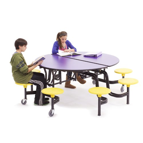 AmTab Manufacturing Corporation 60'' Round Cafeteria Table