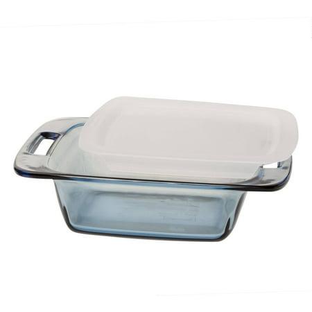 pyrex easy grab atlantic blue 8 square glass baking dish with plastic lid. Black Bedroom Furniture Sets. Home Design Ideas
