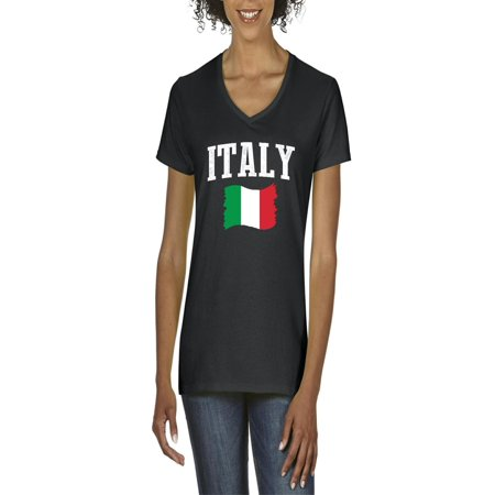 Italy Women V-Neck T-Shirt