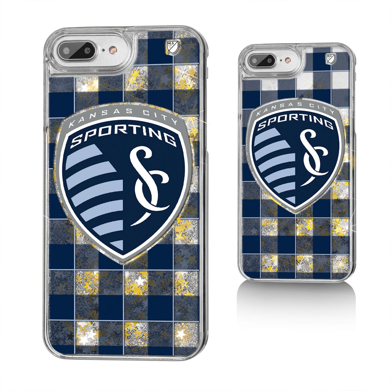 Sporting Kansas City SPORTING Plaid Glitter Case for iPhone 8 Plus / 7 Plus / 6 Plus