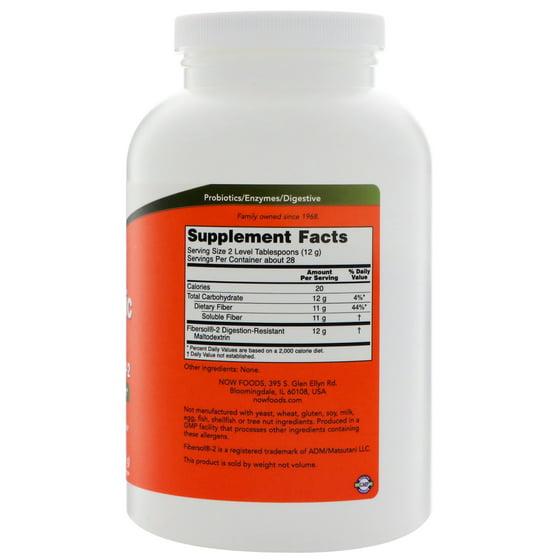 Now Foods Prebiotic Fiber with Fibersol-2 12 oz 340 g