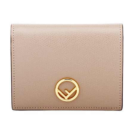 7ba297f05f Fendi Bifold Ladies Small Beige Leather Compact Wallet 8M0387A18BF0E65